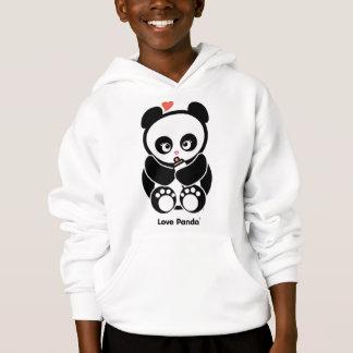 El amor Panda® embroma sudadera con capucha