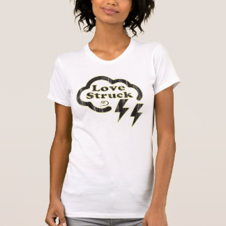 El amor pegó, te gráfica retra de la nube del relá camiseta