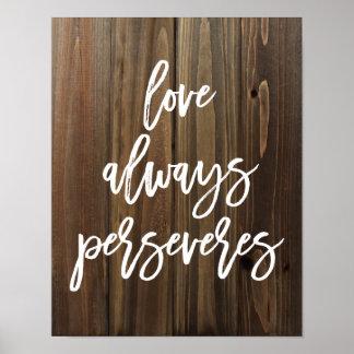 El amor persevera siempre en el falso poster de