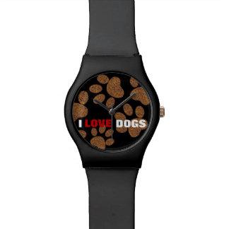 el amor persigue la pata del perro del ~ relojes de pulsera