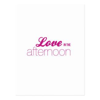 El amor por la tarde (línea de la telenovela) postales