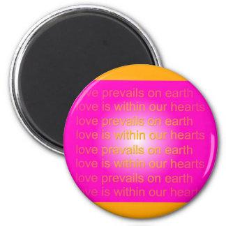 el amor prevalece los imanes imán redondo 5 cm