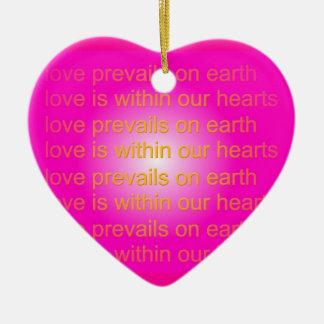 el amor prevalece ornamento ornamento para reyes magos