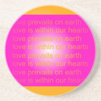 el amor prevalece práctico de costa posavasos personalizados