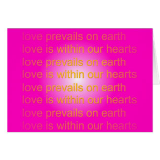 el amor prevalece tarjeta de felicitación