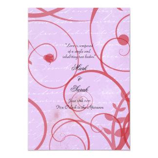"""El amor prospera programa del boda de la lavanda invitación 5"""" x 7"""""""