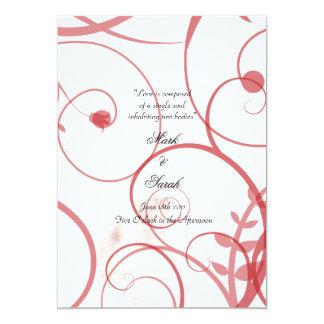 """El amor prospera programa rojo y blanco del boda invitación 5"""" x 7"""""""