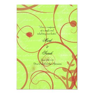"""El amor prospera programa verde del boda del apio invitación 5"""" x 7"""""""