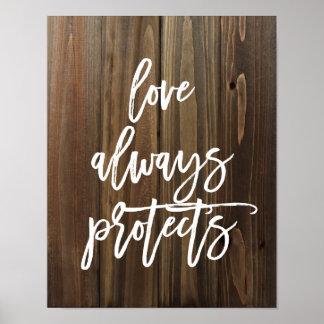 El amor protege siempre en el falso poster de