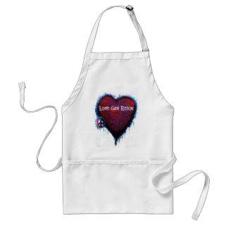 El amor puede reinar los productos del corazón delantal