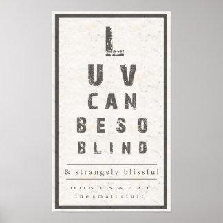 El amor puede ser poster tan ciego