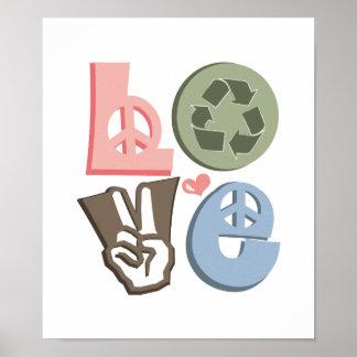 El amor recicla la impresión del poster