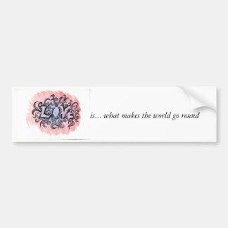 El amor remolina, es… qué hace que va el mundo alr etiqueta de parachoque