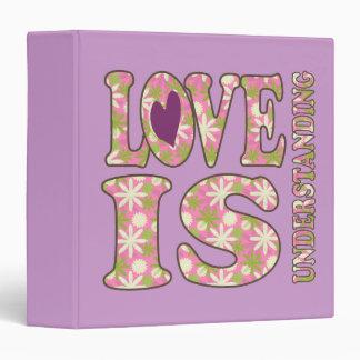 """El amor retro está entendiendo el cuaderno de la carpeta 1 1/2"""""""