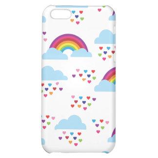 El amor retro lindo del corazón del arco iris embr