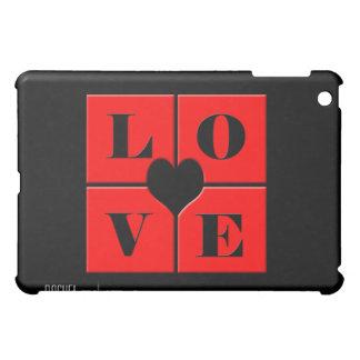 El amor rojo y negro teja el iPad