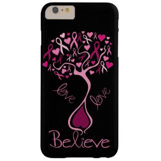 El amor rosado de la conciencia del cáncer de funda de iPhone 6 plus barely there