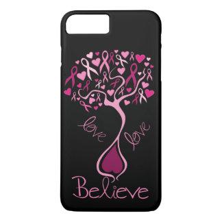 El amor rosado de la conciencia del cáncer de funda iPhone 7 plus