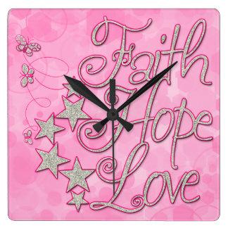 El amor rosado de la esperanza de la fe protagoniz
