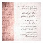 El amor rosado es invitación paciente del boda del