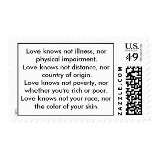 El amor sabe no franqueo