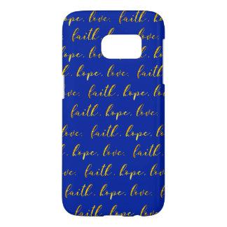 El amor Samsung de la esperanza de la fe llama por Funda Samsung Galaxy S7