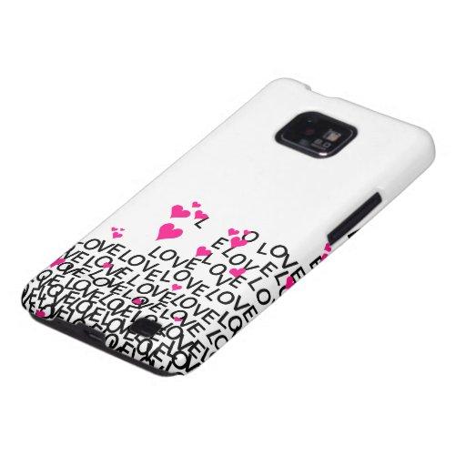 El amor Samsung del el día de San Valentín encajon Galaxy SII Funda
