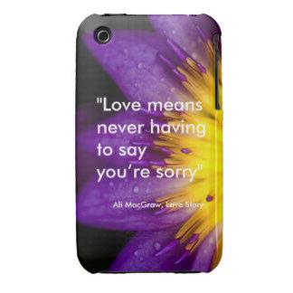 El amor significa que nunca teniendo que decirle iPhone 3 funda
