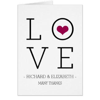 El amor simple de Borgoña le agradece las tarjetas