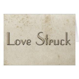 El amor simple pegó el papel manchado vintage tarjeta pequeña