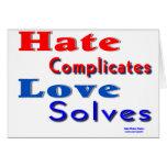 El amor soluciona tarjeton