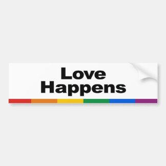 El amor sucede pegatina para el parachoques pegatina para auto