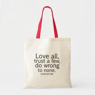 El amor todo de Shakespeare, confía en algunos, Bolsa Tela Barata
