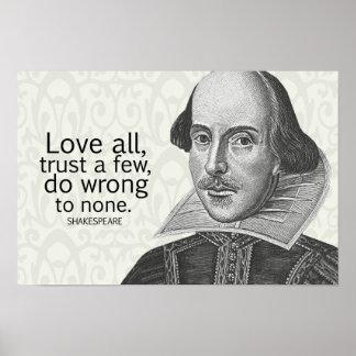 El amor todo de Shakespeare, confía en algunos, Póster