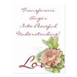 ¡El amor transforma cólera en la comprensión Postal