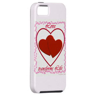 El amor transforma vida iPhone 5 Case-Mate cárcasa