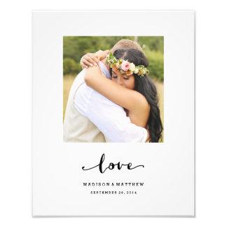 El amor verdadero el   personalizó la impresión fotografía