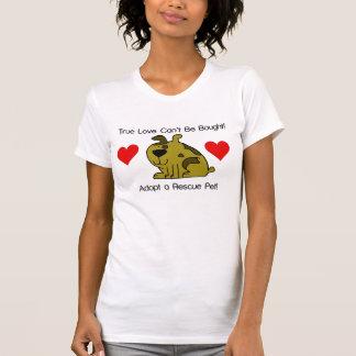 El amor verdadero no se puede comprar - perro camisetas