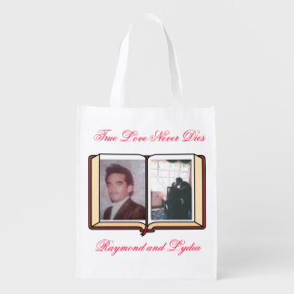 El amor verdadero nunca muere bolsas reutilizables