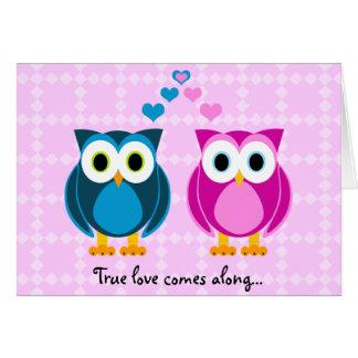 El amor verdadero viene adelante… Tarjeta del dibu
