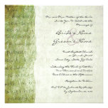 El amor verde es invitación paciente del boda del