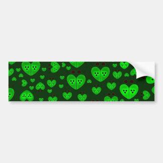 El amor verde fastidia a la pegatina para el parac pegatina para auto