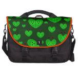 El amor verde fastidia diseños bolsas para portátil