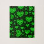 El amor verde fastidia diseños puzzle con fotos