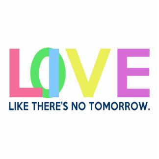 El amor vivo como allí es ningún mañana escultura fotográfica