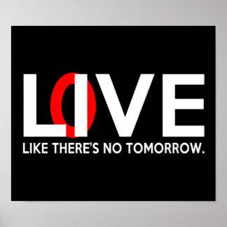 El amor vivo como allí es ningún mañana impresiones