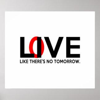El amor vivo como allí es ningún mañana poster