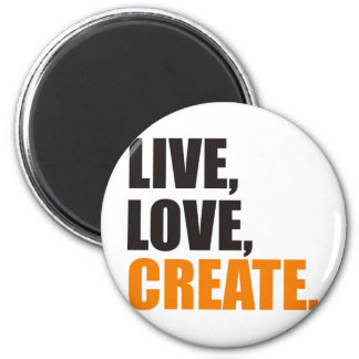 el amor vivo crea imán redondo 5 cm