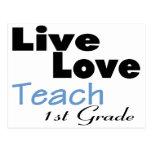 El amor vivo enseña al 1r grado (azul) postales