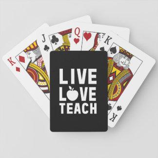El amor vivo enseña baraja de cartas